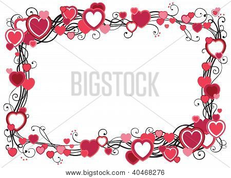 Border  with hearts