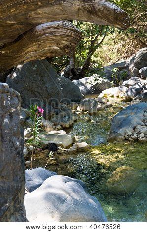 Mountain creek at Samaria gorge
