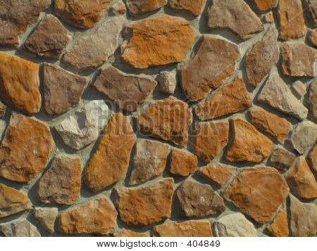 Unfinished Stone Wall