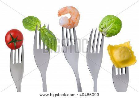 Alimentos saudáveis em branco