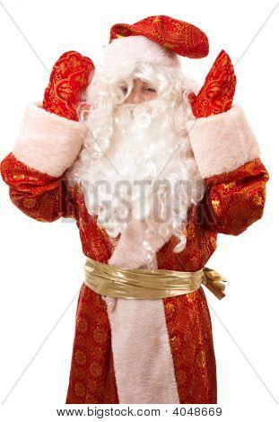 Baby Santa Claus Closeup