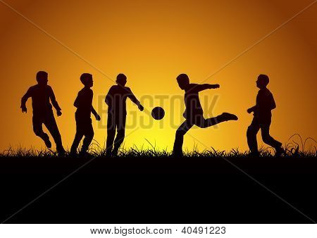 Five boys and football