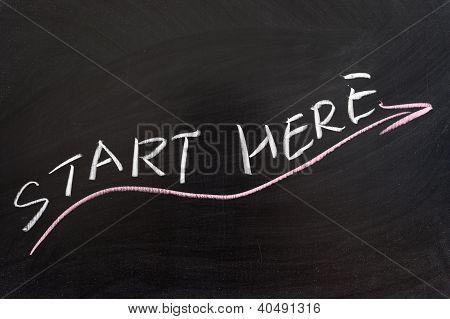 Start Here Concept