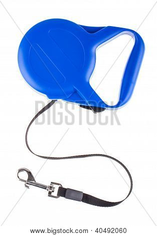 Blue Retractable Leash For Dog Top View