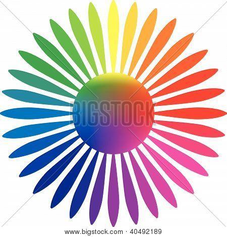 Paleta de colores de la flor