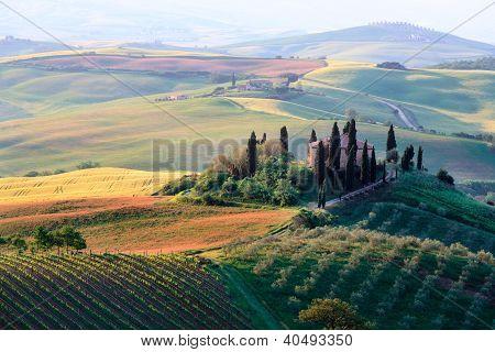Colinas da Toscana e quinta