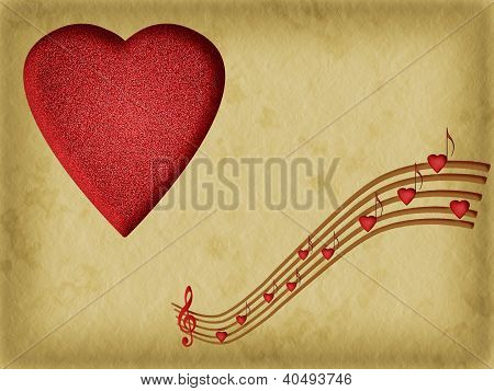 Music Is The Food Of Love - Valentine Background