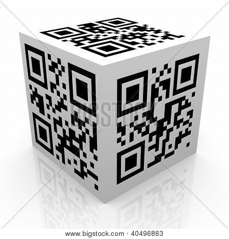 3D Qr Code Cube