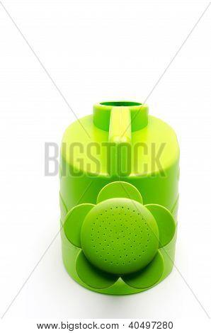 Green Flower Watering Pot