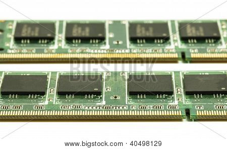 Two Laptop Cpu Chips Isolated On White