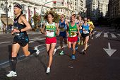 VALENCIA, SPAIN - NOVEMBER 18: Runners compete in the XXXII Valencia Marathon on November 18, 2012 i