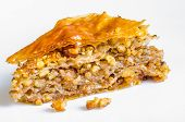 foto of baklava  - Homemade baklava with walnuts - JPG