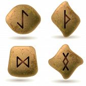 picture of rune  - Runes Engraved on Stone - JPG
