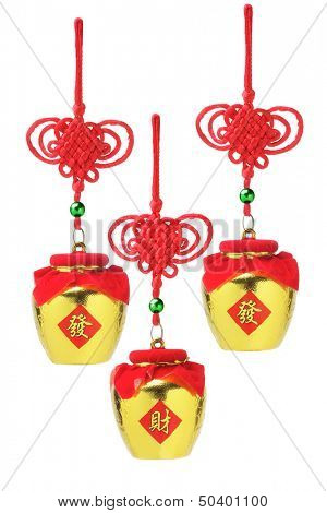 Chinese New Year Auspicious Golden Pots Ornaments - Prosperity
