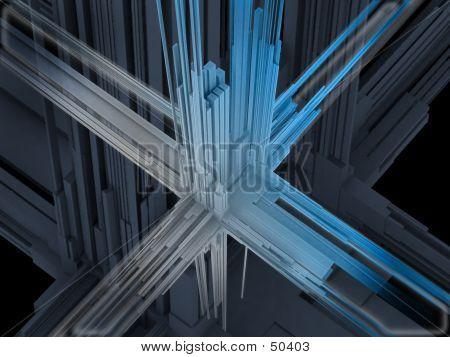 3d abbildung abstrakt