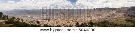 City Of Cuzco Peru Panoramic