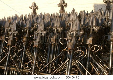 Stack Of Wrought Iron Gates