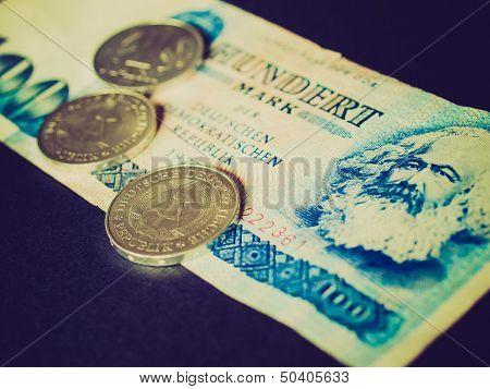 Retro Look Ddr Banknote