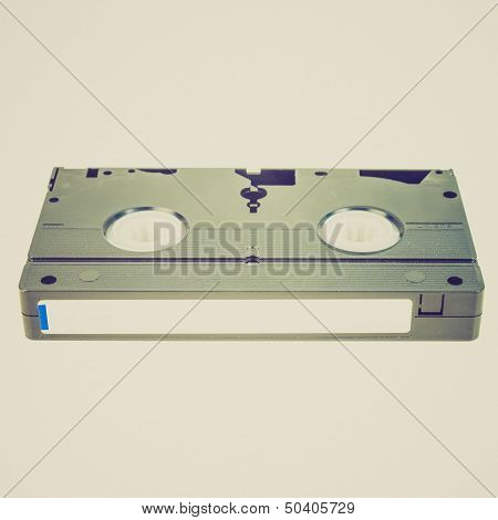 Retro Look Vhs Tape Cassette