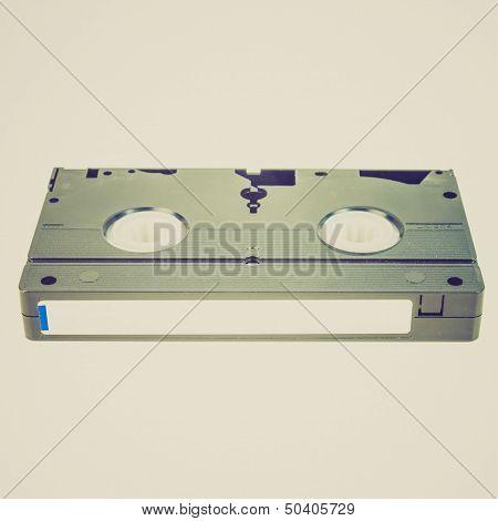 Retro Look Vhs Tape Cassette