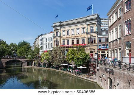 Utrecht, The Netherlands - Augustus 27: Shopping Centre Of The Fourth City Of The Netherlands With A