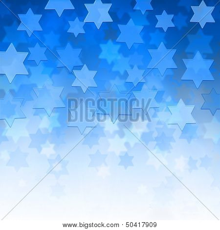 Background With Magen David Stars