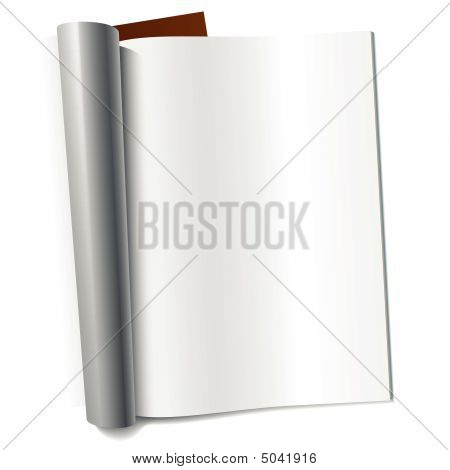 Vector Page Of Magazine