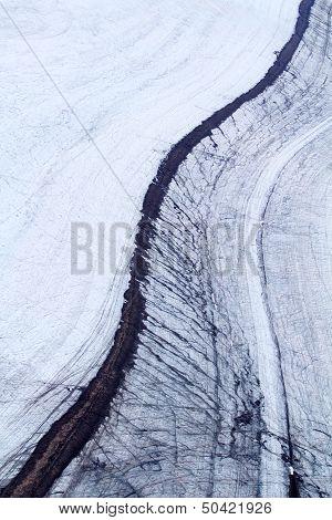The Stone River On A Glacier 1