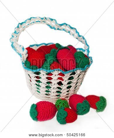 Knitted Basket With Berries