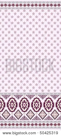 Pattern With Small Flowers And A Wide Border