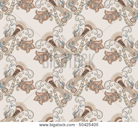 Paisley Pattern In Pastel Colors