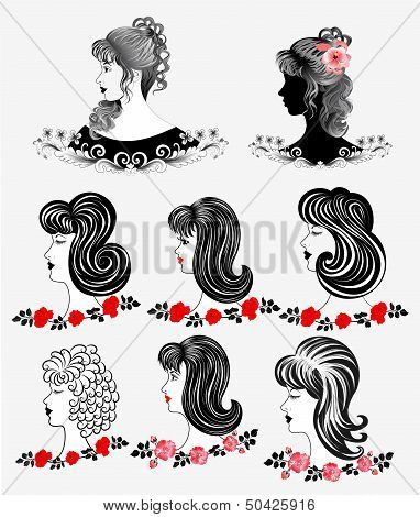 Eight Black And White Silhouette