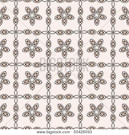 seamless floral pattern of squares