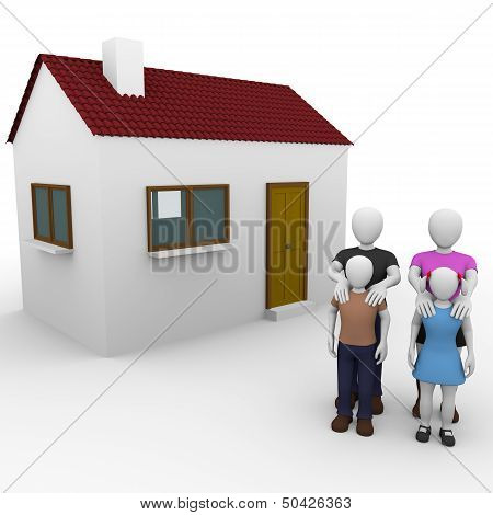Family With House