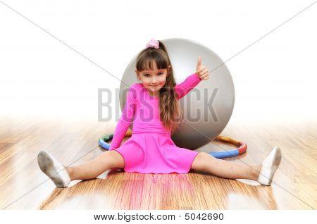 Girl  Fitness-ball Pink Sport