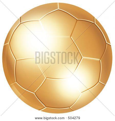 Golden Soccer Ball