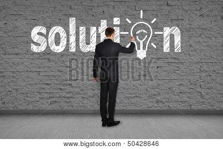 Man Drawing Solution