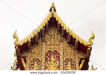 Ubosot In Wat Saen Fang , Chiangmai Thailand