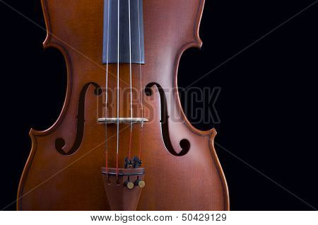 Classical shape wood vintage violin with Space for text.