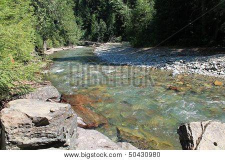 Glacier-fed Montana Mountain Stream