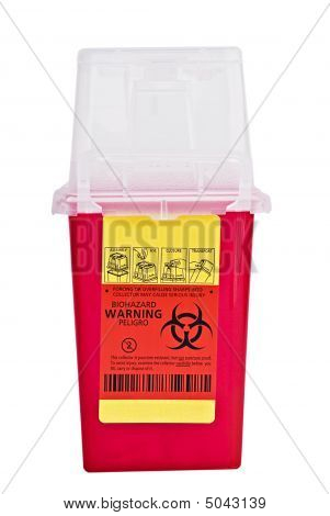 Sharps Container With Clipping Path