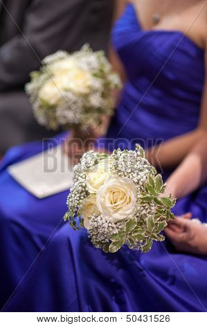 Bridesmaids Holding Wedding Bouquets