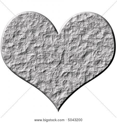 3D Stone Heart