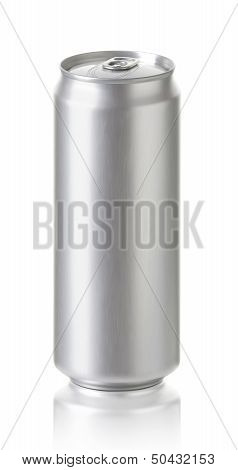 large aluminum beer, soda can. Realistic photo image