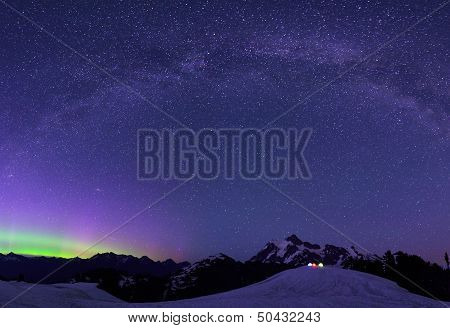Aurora Borealis and Milky Way from Artist Point