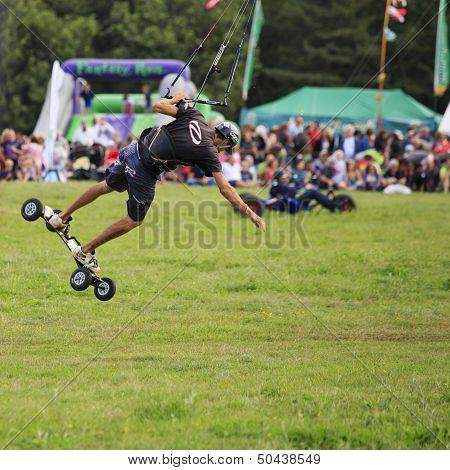 Kite Skateboarding Jump