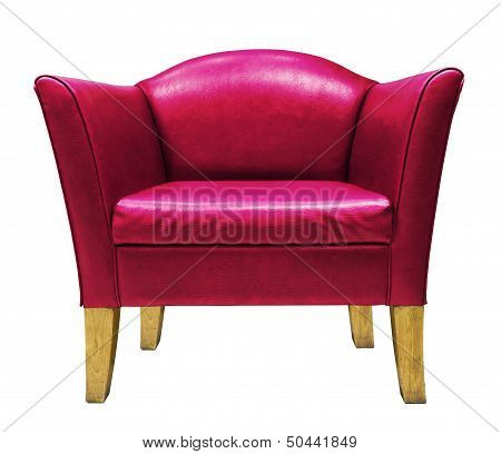 Red Armchair Isolated