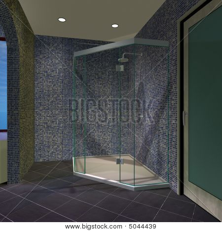 Modern House-master Bathroom
