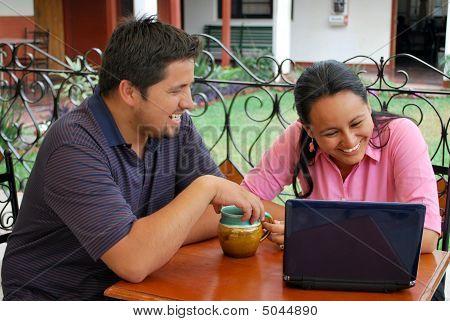 Hispanic students using computers