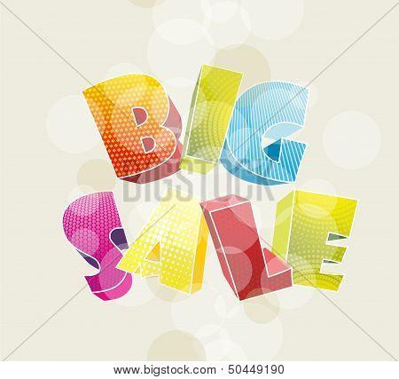 3d color text BIG SALE.